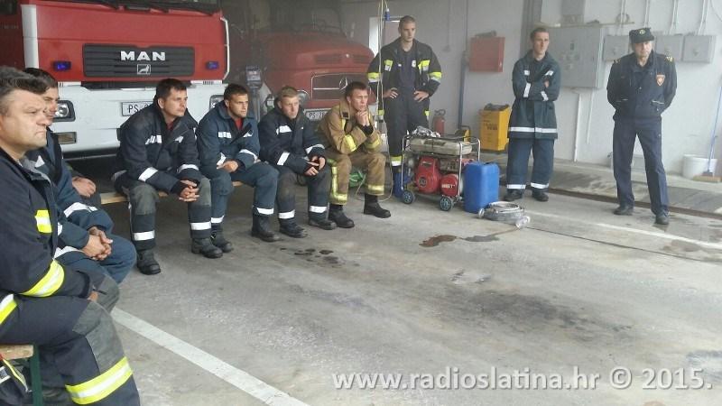 Usavršavanje DVD članova u simulatoru plamenih udara