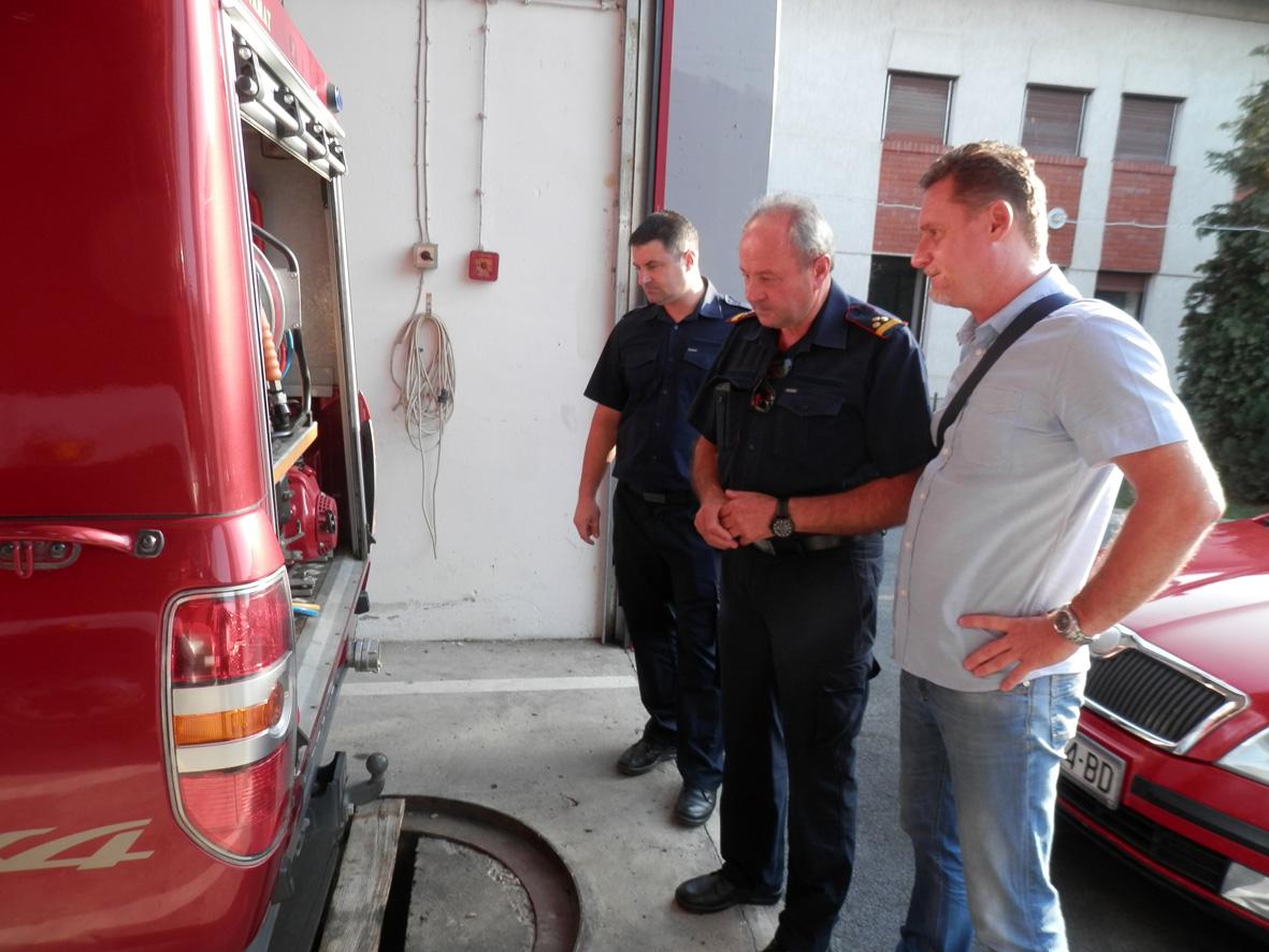 Gradonačelnik Denis Ostrošić posjetio Javnu vatrogasnu postrojbu Slatina